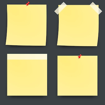 Yellow post it notes