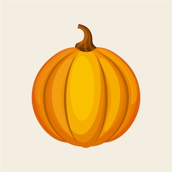 Yellow pumpkin icon