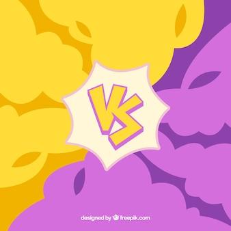 Yellow and purple versus background