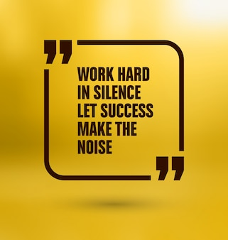 Yellow quote design