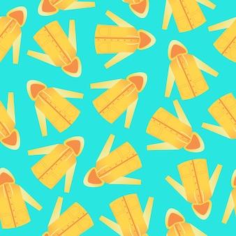 원활한 패턴에 노란색 비옷