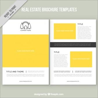Yellow real estate brochure