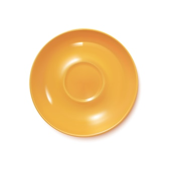 Yellow realistic plate
