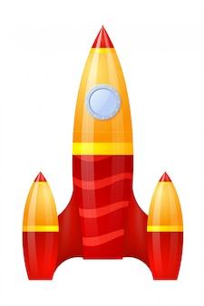 Yellow-red rocket