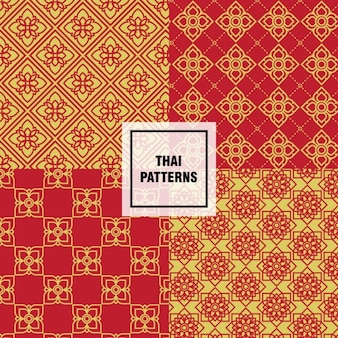Yellow and red thai patterns