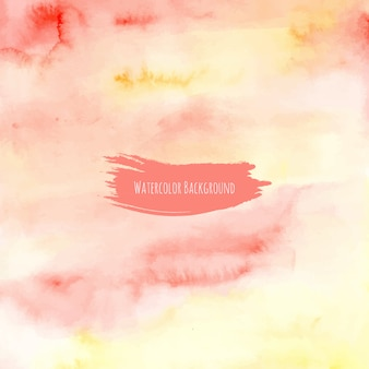 黄色の赤い水彩のテクスチャの背景