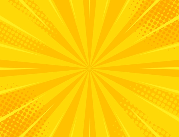 Yellow retro vintage style with sun rays vector illustration
