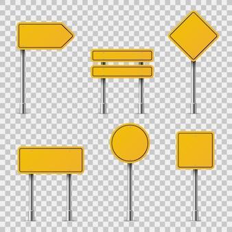 Желтые дорожные знаки. бланк дорожное движение пустое предупреждение предостережение внимание остановка безопасность форма опасность доски улица руководство
