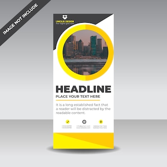 Yellow  roll up banner