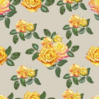 Желтая роза бесшовные модели