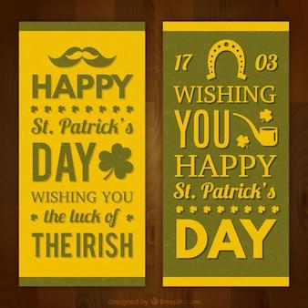 День баннеры желтый святого патрика