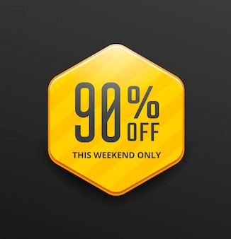 Yellow sale banner