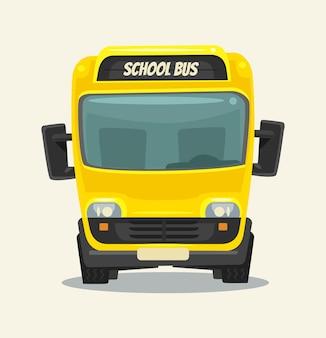Желтый школьный автобус