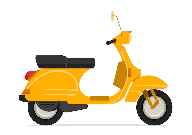 Yellow scooter motorcycle