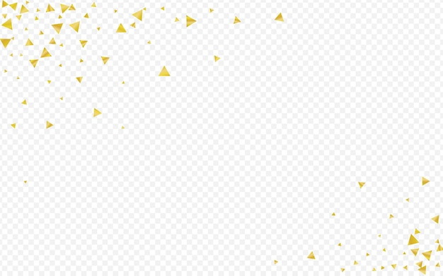 Yellow sequin holiday transparent background. vector triangle illustration. golden shine anniversary postcard. sparkle luxury pattern.