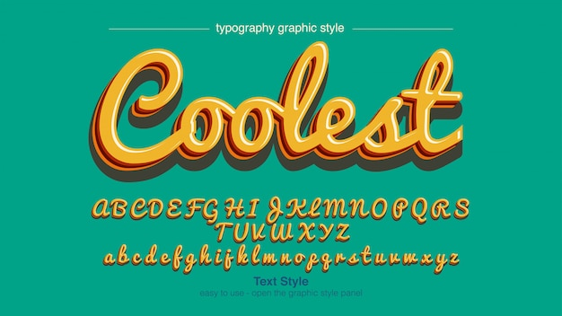 Yellow shades calligraphy font