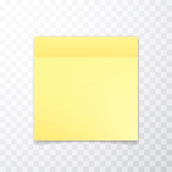 Yellow sheet of note paper