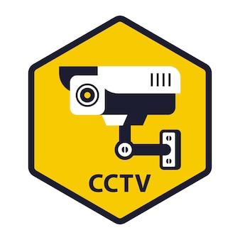 Yellow sign is under video surveillance