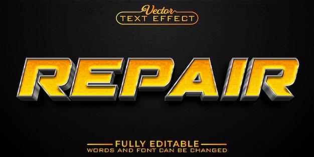 Шаблон редактируемого текста с желтым серебристым ремонтом автомобилей