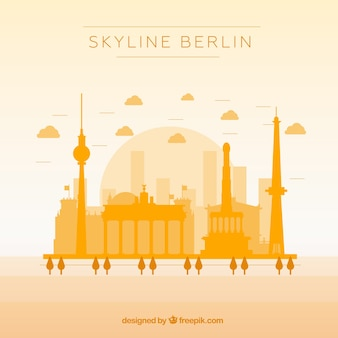 Yellow skyline of berlin