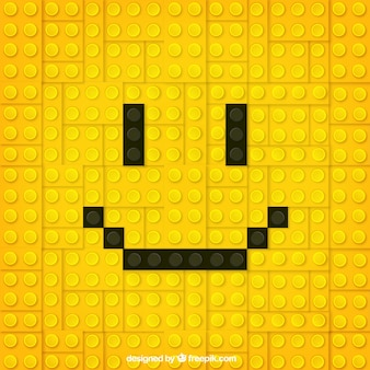 Yellow smiley face of pieces background
