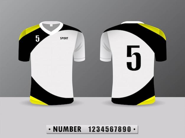 黄色のスポーツシャツ。