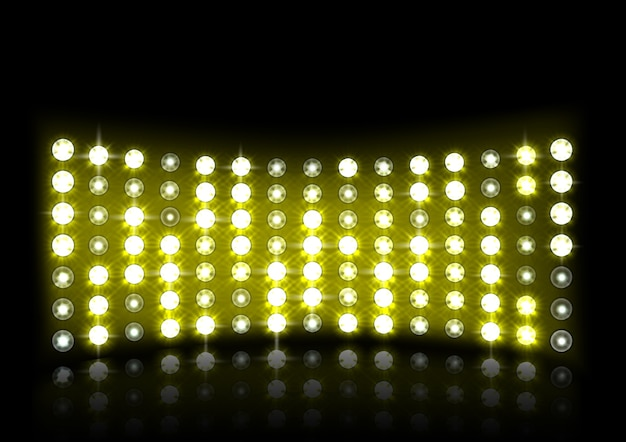 Yellow stage light illustration