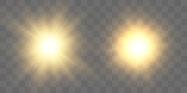 Желтая звезда, яркое солнце, вспышка новой звезды.