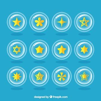 黄色の星のコレクション