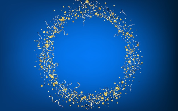 Yellow star flying blue background