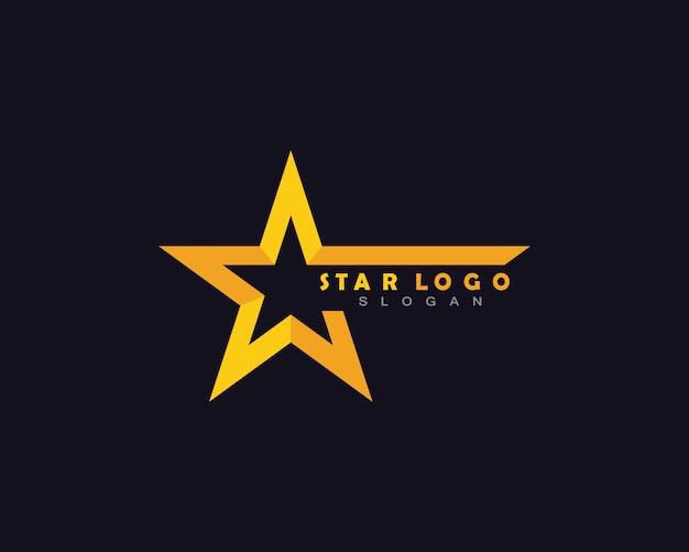 Yellow star logo Premium Vector
