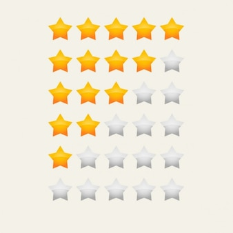 Yellow star rating