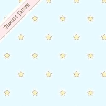黄色い星のシームレスなパターン