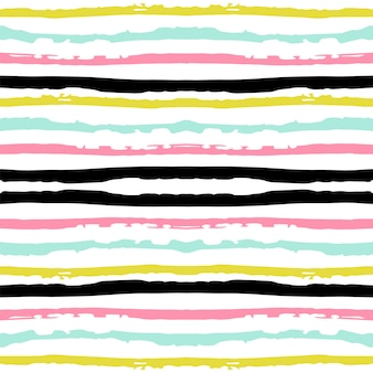 Yellow stripe seamless pattern