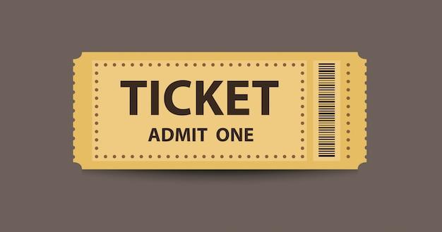 Yellow stub ticket