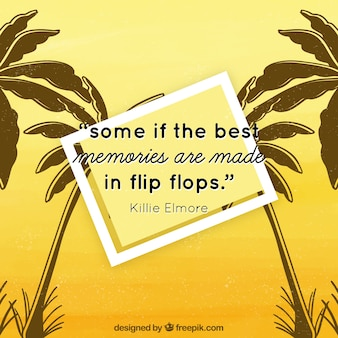 Yellow summer background with quote
