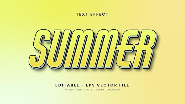 Yellow summer text effect