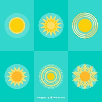 Giallo raccolta icone del sole