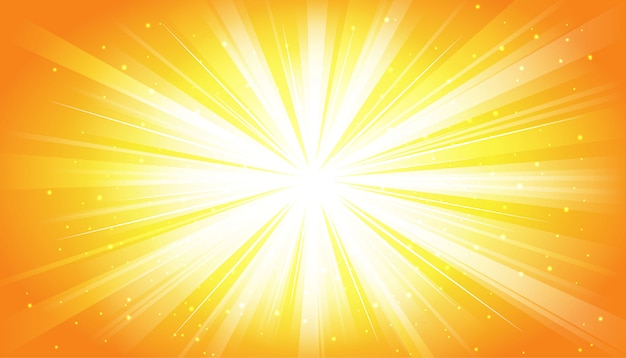 Yellow sunny rays background