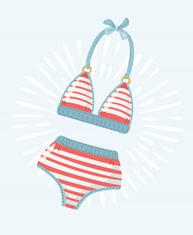 Yellow swimsuit icon.  illustration of yellow swimsuit  icon for web  on baby blue background