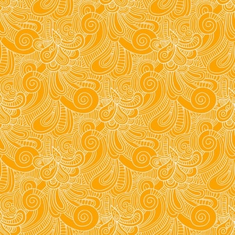 Yellow swirls pattern