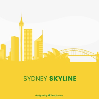 Yellow sydney skyline design