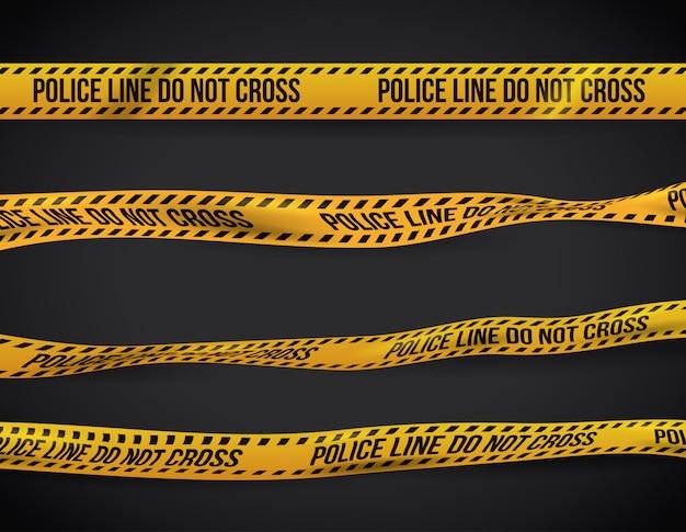 Yellow tape design.