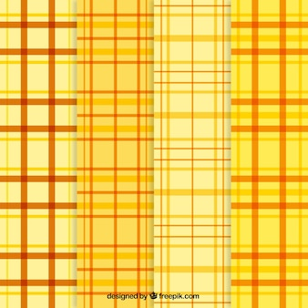 Yellow tartan patterns