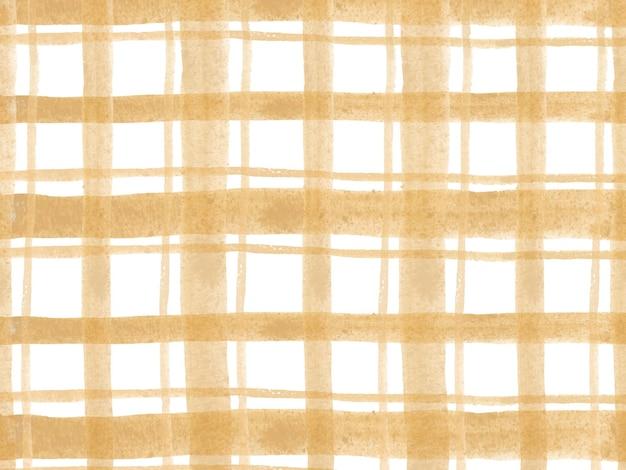 黄色のタータン水彩市松模様の背景