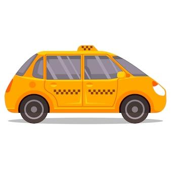 Yellow taxi cab illustration
