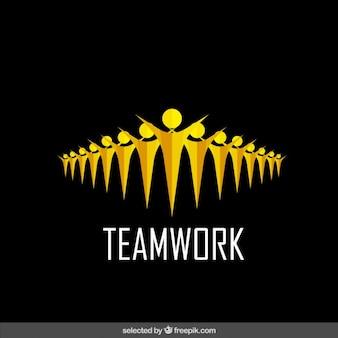イエローチームワークのロゴ 無料ベクター