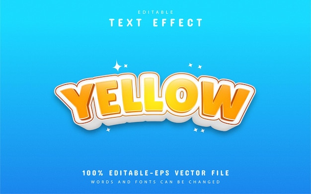 Yellow text effect design
