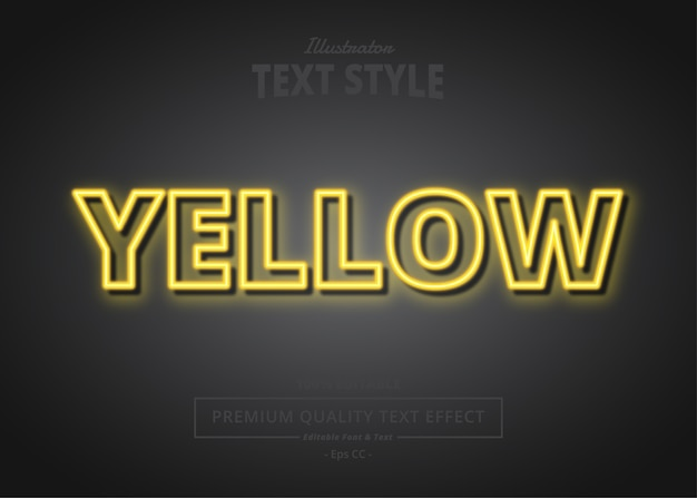 Yellow  text effect