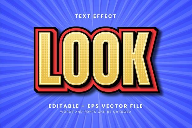 Yellow text effect Premium Vector